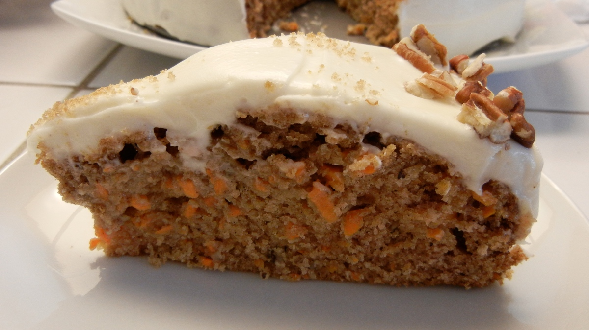 Super Moist Carrot Cake with Cream Cheese Frosting and a Swim Workout